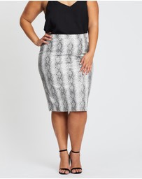 Simply Be - Faux Leather Pencil Skirt