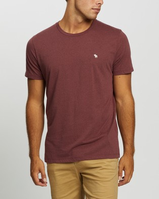 Abercrombie & Fitch Seasonal Crew Tee 3 Pack - T-Shirts & Singlets (Red, Grey & Gold)