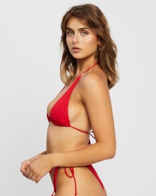 Bond-Eye Swimwear The Sofie Top Bikini Tops Baywatch Red