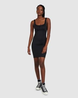 Dont Ask Amanda Samara Scruched Bodycon Dress - Dresses (BLACK)