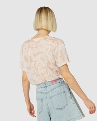 Gorman - Coil Spoil Linen Tee - T-Shirts & Singlets (Multi) Coil Spoil Linen Tee
