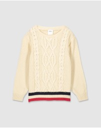 Milky - Tipping Cable Knit - Kids
