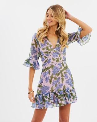 Atmos & Here – Violetta Ruffle Dress Romantic Floral