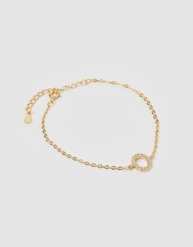 Women Crystal Letter O Bracelet
