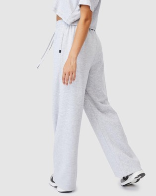 Cotton On Body Active Lifestyle Wide Leg Trackpants - Track Pants (Cloudy Grey Marle)