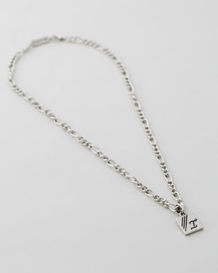 Icon Brand Figaro Chain Necklace - Jewellery (Silver)