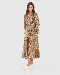 Cooper St - Can't Wait Long Sleeve Midi Dress