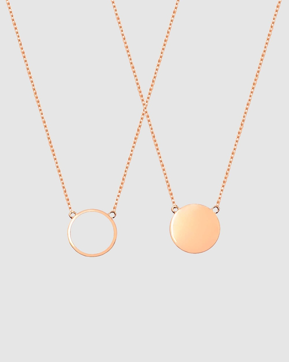 Secret Sisterhood Circle of Friendship Necklaces Jewellery Rose Gold