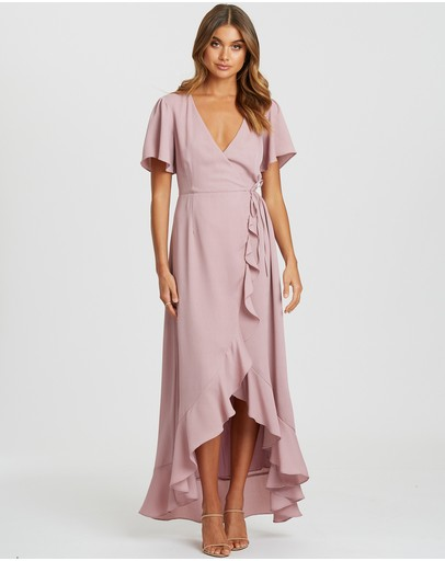 Chancery Sofia Wrap Dress Mauve