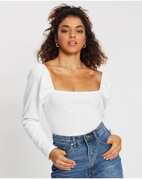 Missguided Petite - Puff Sleeve Top