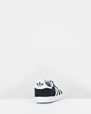 adidas Originals - Gazelle Pre School Lifestyle Shoes (Black/White)