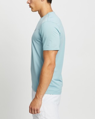 ASICS Run SS Top - Short Sleeve T-Shirts (Smoke Blue & French Blue)