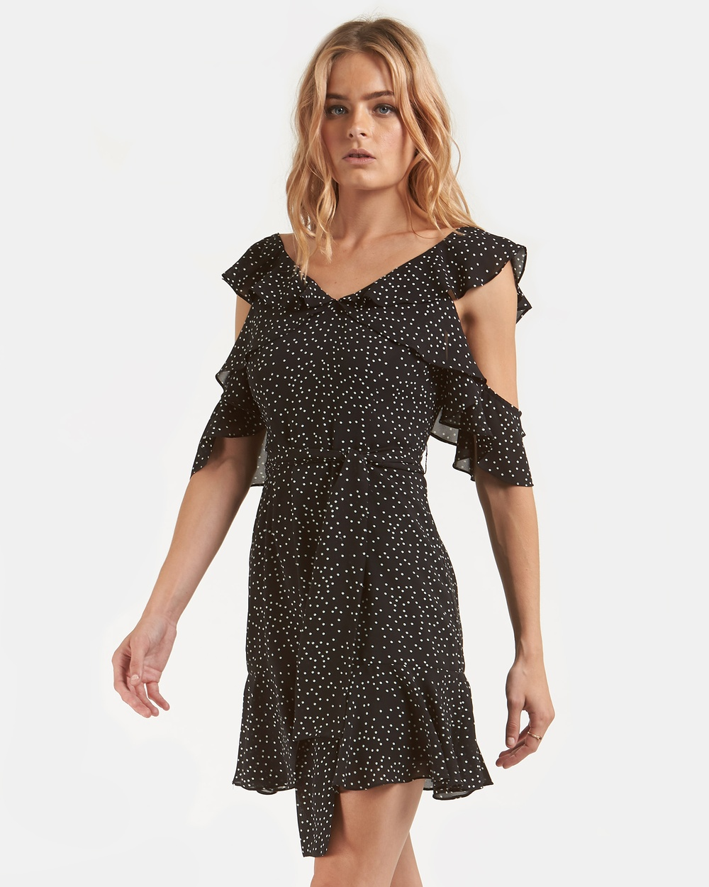 Amelius Black Spotty Dotty Dress