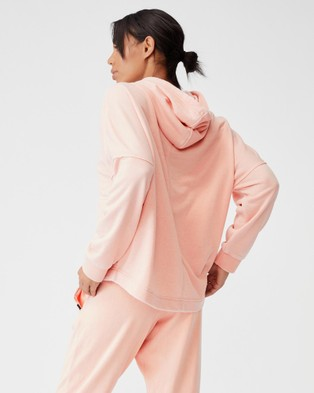 Cotton On Body Active Lifestyle Relaxed Hoodie Hoodies Washed Apricot Wash