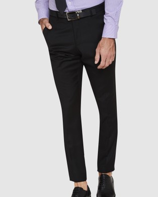 Oxford New Hopkins Wool Suit Trousers - Suits & Blazers (Black)