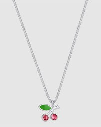 Elli Jewelry - Kids - Necklace Cherry Playful with Swarovski® Crystals in 925 Sterling Silver
