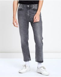 CERRUTI 1881 - Straight Leg Rinse Wash Faded Denim Jeans