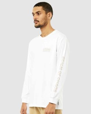 Rusty - Reserved Long Sleeve Tee - Long Sleeve T-Shirts (WHT) Reserved Long Sleeve Tee