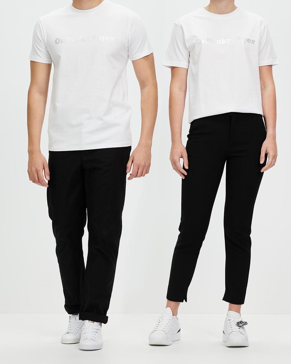 Onitsuka Tiger Tee Unisex T-Shirts & Singlets White Silver Australia