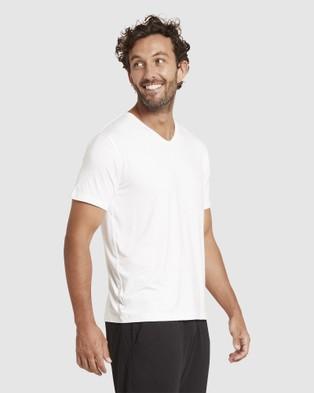 Boody Organic Bamboo Eco Wear - V Neck T Shirt - T-Shirts & Singlets (White) V-Neck T-Shirt