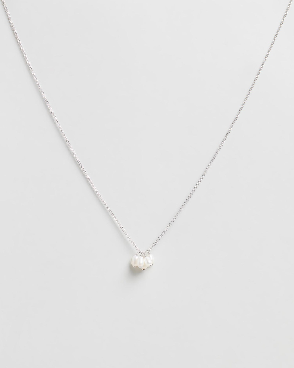 Bianc Harbour Necklace Jewellery Rhodium-Plated Sterling Silver