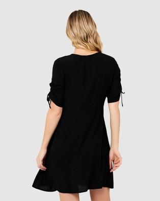 Ripe Maternity Mae Button Through Dress - Dresses (Black)