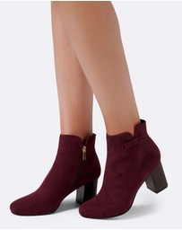 Forever New - Briana Side Bow Ankle Boots