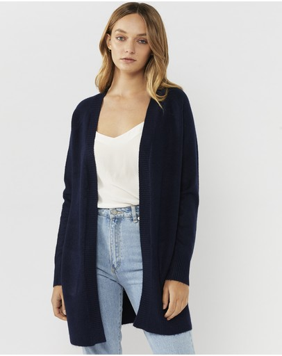 Everly Collective Brooklyn Short Cardigan Navy