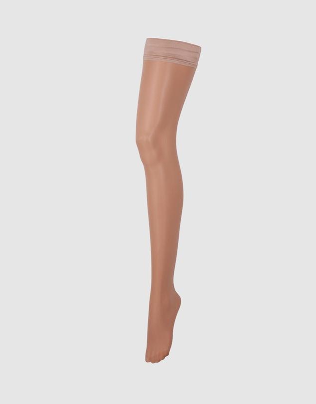 Women Plain Leg Lace Topped Hold Ups