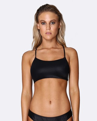 Allerton – Gidget Bikini Top Wet look Midnight