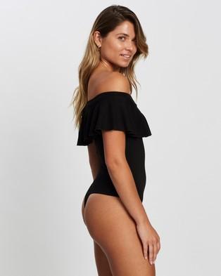 Atmos&Here Jaime Off Shoulder Ruffle Bodysuit - Tops (Black)