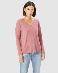 French Connection - V Neck Long Sleeve Top