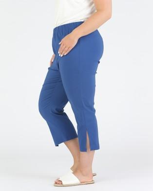 Advocado Plus Side Split Pants - Pants (Bluestone)