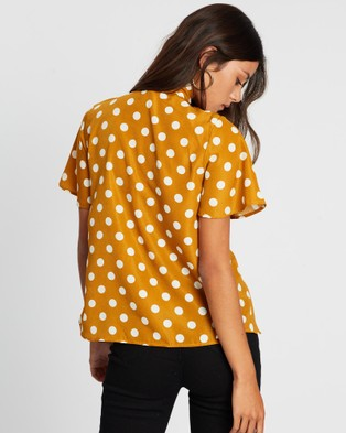 LENNI the label Mars Blouse - Tops (Mustard Polka)
