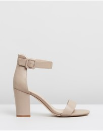 Atmos&Here - Lisa Leather Block Heels