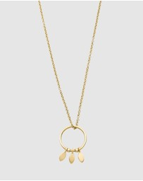 Luna Rae - Solid Gold - Falling Stars Necklace