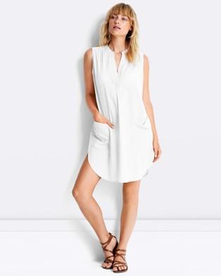 Seafolly – Sleeveless Boyfriend Beach Shirt – Swimwear White