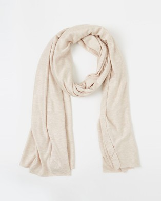 Bamboo Body Bamboo Cashmere Wool Travel Wrap - Scarves & Gloves (Oatmeal)