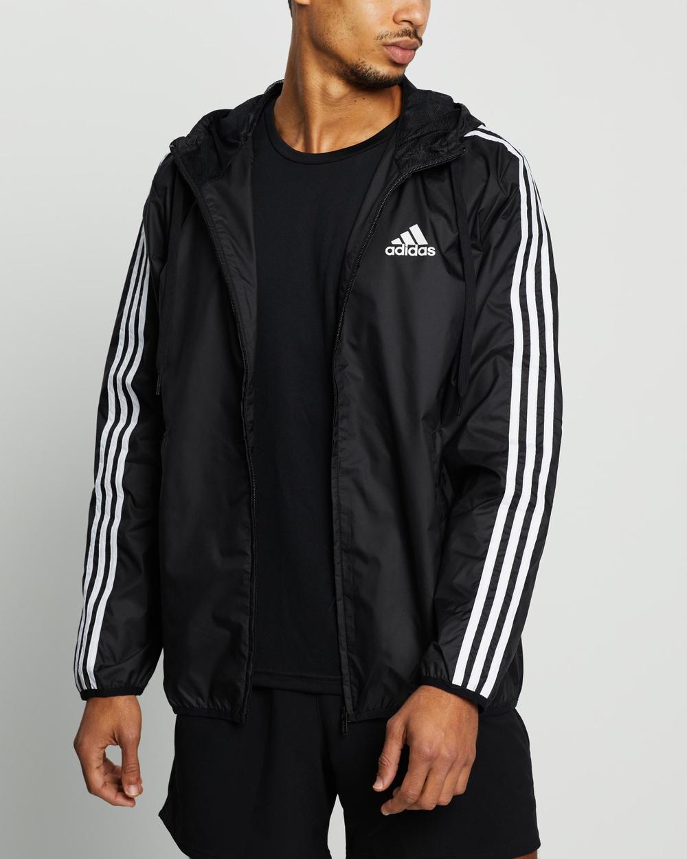 adidas Performance Essentials 3 Stripes Wind Breaker Coats & Jackets Black 3-Stripes