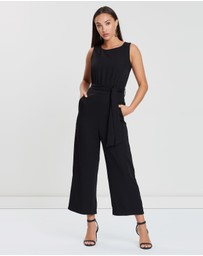 Forcast - Julianne Tie Waist Jumpsuit