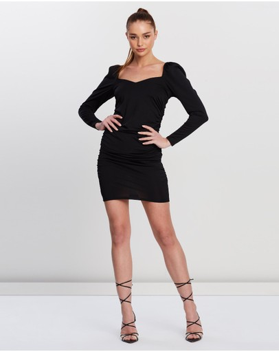 Ivyrevel Puff V-neck Dress Black