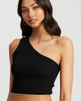 Tussah Emilie Knit Top - Cropped tops (Black)