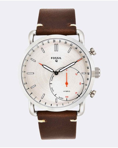 Fossil - Hybrid Smartwatch Q Commuter Dark Brown