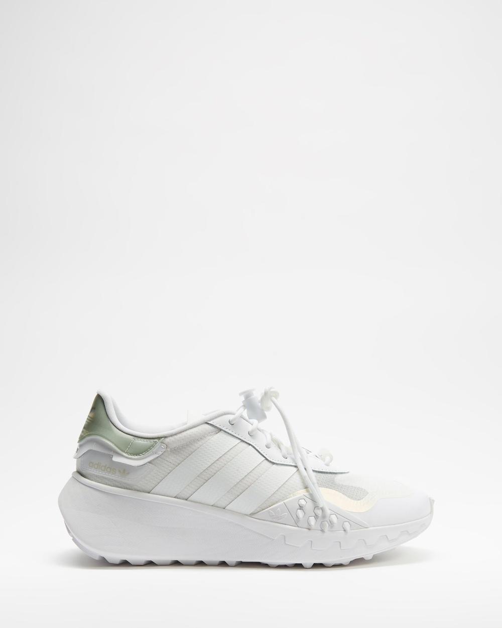 adidas Originals Choigo Women's Lifestyle Sneakers Footwear White & Silver Metallic