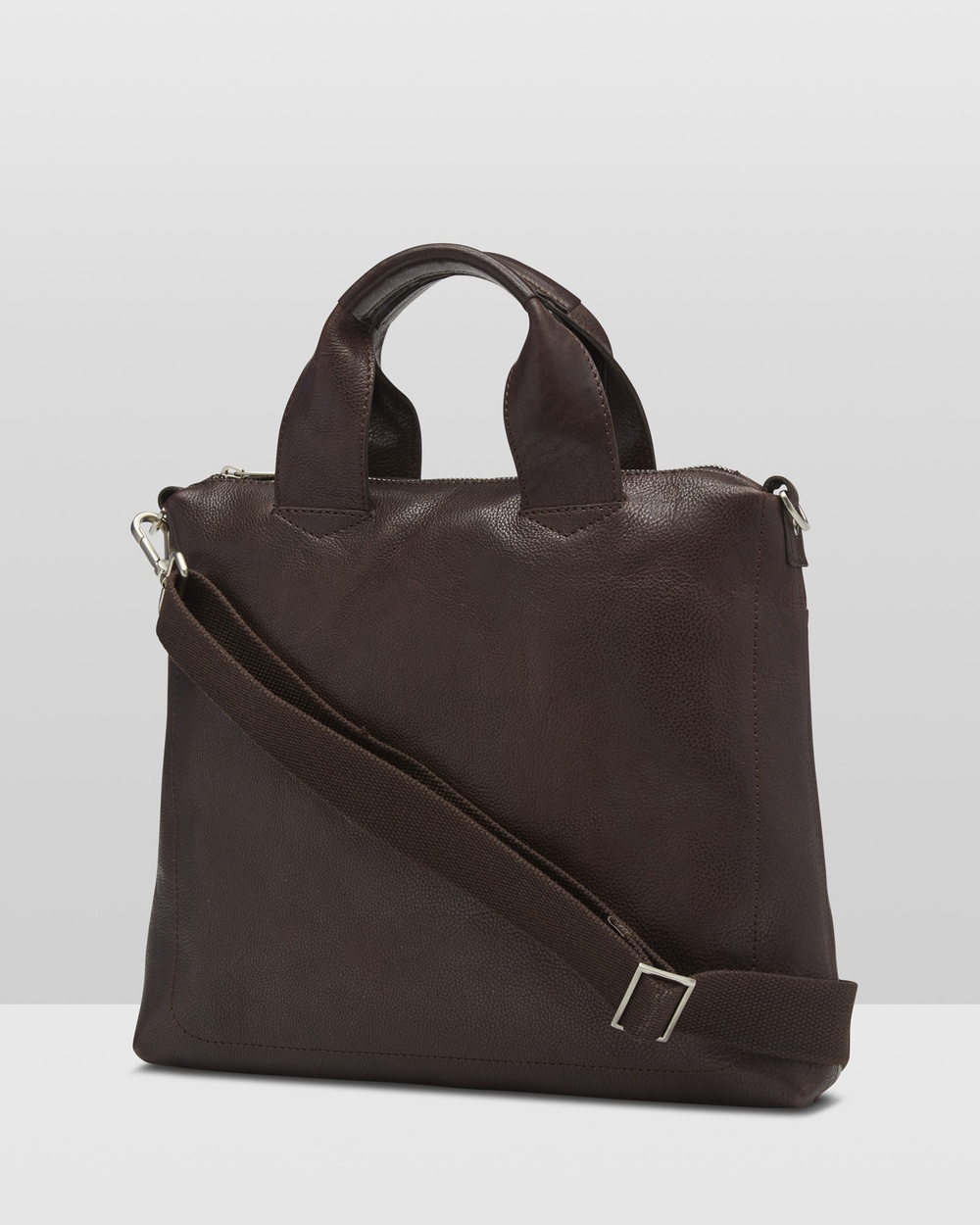Oxford Zaven Leather Briefcase Bags Brown