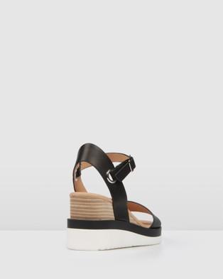 Jo Mercer Kenzie Wedge Sandals - Wedges (Black)