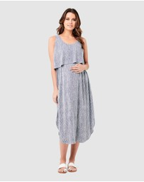 Ripe Maternity - Stella Stripe Nursing Dress