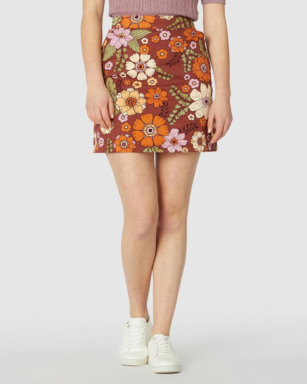 Princess Highway Brandy Mini Skirt Skirts Brown