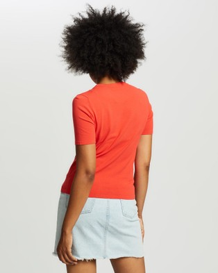 Marcs Short Sleeve Knit Tee - Jumpers & Cardigans (TANGO)