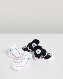 Converse - 2-Pack Frilly Chuck Booties - Babies